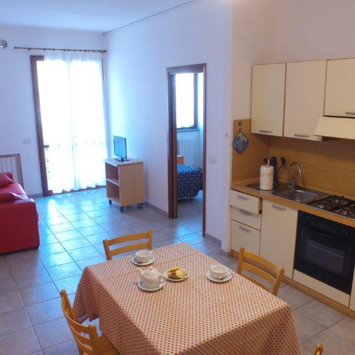 Casa Vacanze Toscana - Appartamento Borgo 1 - Living & Cucina | Corso 15 Case Vacanza